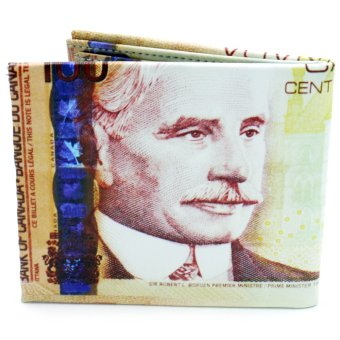 100 Canada Dollars Currency Bi-Fold Leather Wallet Price Philippines