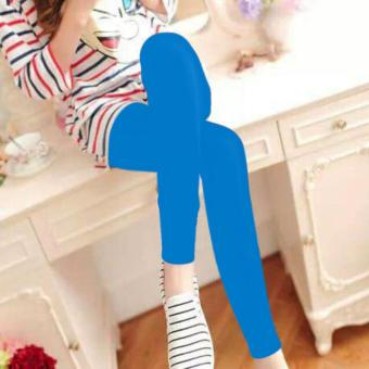Fashionista Fashionable Plain Leggings (Light Blue) Price Philippines