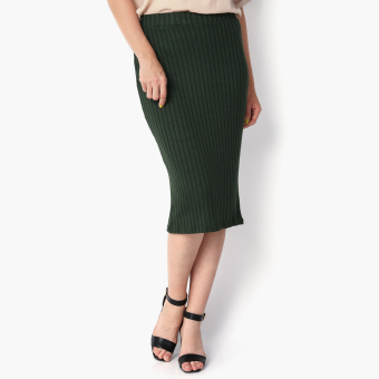 Harga SM Woman Prima Ribbed Midi Skirt (Green)