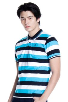 Harga Bobson Regular Fit Stripes Polo Tee (Caviar)