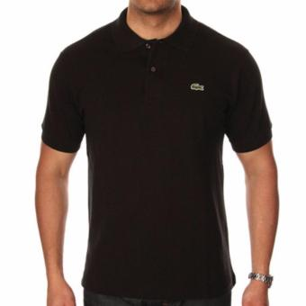 Harga LACOSTE CLASSIC POLO SHIRT FOR MEN (BLACK)