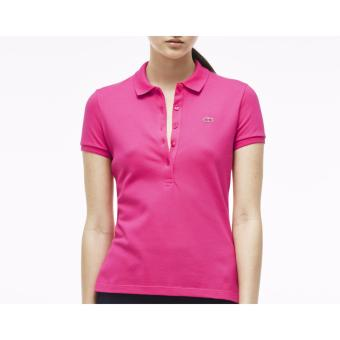Harga LACOSTE MONOTONE 5 BUTTONS FOR WOMEN (FUCHSIA)