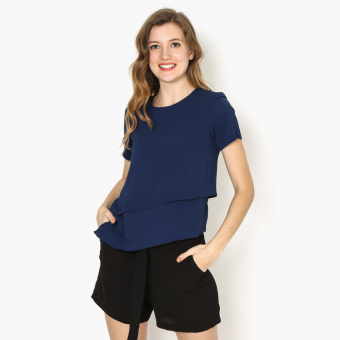 Harga GTW Fab Asymmetrical Top (Navy Blue)