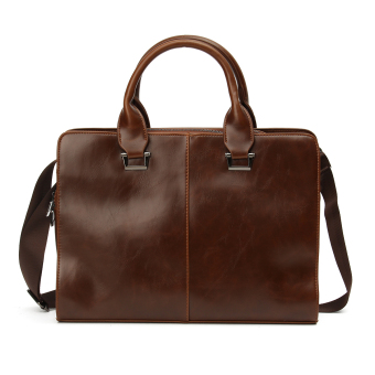 Fashion Men's Business Bag Briefcase Messenger Shoulder Bags Tote Bag Coffee - intl Price Philippines