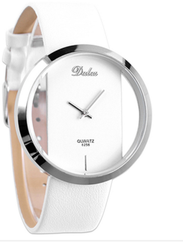 OEM Fashion Women's White Leather Strap Watch 7199 White Price Philippines
