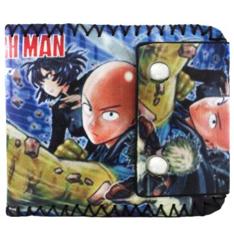 Anime Zone One-Punch Man Saitama Stitched Edges Printed Leather Wallet Price Philippines