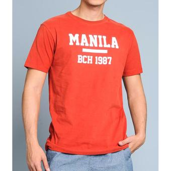 BENCH- BOP0358OB3 Pinoy Lab Statement Tee (Orange Brown) Price Philippines