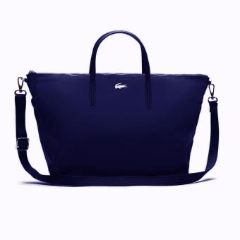 Harga Lacoste L.12.12 Concept Nylon Zippered Tote Bag - Horizontal (Navy)