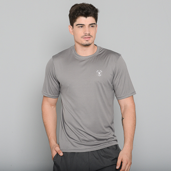 Harga Outperformer Men's Active Round Neck Shirt with Extra Stretch and Dryperform Technology (Grey)
