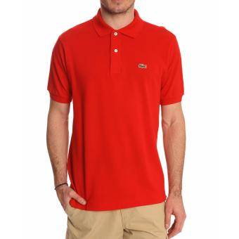 Harga Lacoste Classic Polo Shirt for Men (Tangerine)