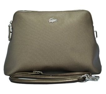 Harga Lacoste Chantaco Bugatti Crossbody Bag (Bronze)