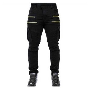 High Quality Men's Outdoor Tactical Military Pants High Quality 100% Cotton Fitness Joggers Pant Men Asian Size XXL(Black) - intl Price Philippines