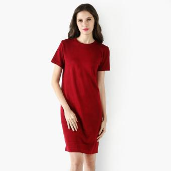 Harga SM Woman Knit Shirt Dress (Red)