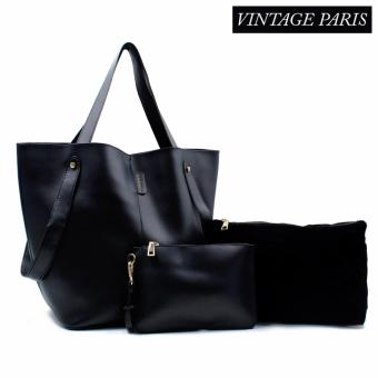 Harga Vintage Paris Luna Cross Body Sling Bag Large (Black)