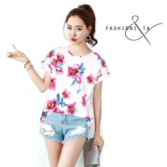 Fashionista Haneul Women Korean Floral Blouse Price Philippines