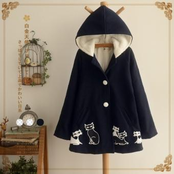 Bear Fashion Warm Woman Lady Female Autumn Clothes Cat Korean Style Coats - intl Price Philippines