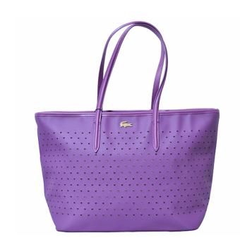 Harga Lacoste Chantaco Perforated Pique Tote Bag (Purple)