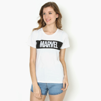 Harga Marvel Mesh Overlay Teens Graphic Tee (White)