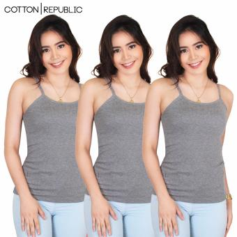 Harga Set of 3 Fab Spaghetti Strap Inner Blouse (Grey)
