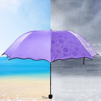 Harga Magic Umbrella for Rainy Appear Flowers When Meet Water (Purple)