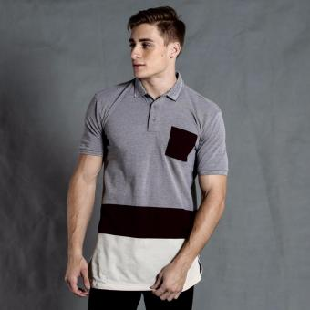 Harga PENSHOPPE Long-line Crewneck Tee with amboy hem (Grey)