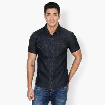 Harga Code Blue Mens Chambray Casual Shirt (Blue)