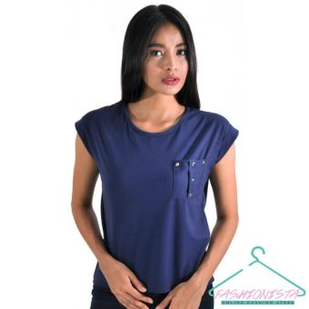 FASHIONISTA Women's Fashionable Blouse (Navy Blue) Price Philippines