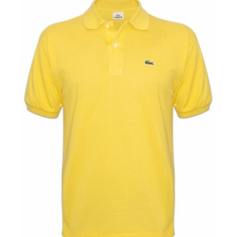 Harga Lacoste Classic Men's Polo Shirt (Light Yellow)