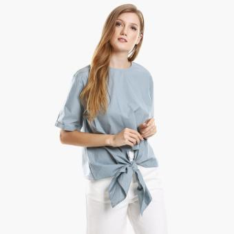 Harga SM Woman Poplin Tie-Front Top (Blue)