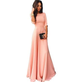 Harga Celebrity Style Flowy Hem Party Maxi Long Dress For Women - intl
