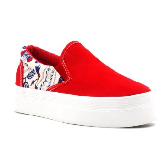 New York Sneakers Quinn Flatform Shoes (Red) Price Philippines