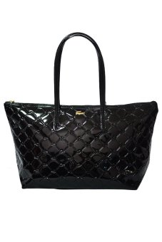Harga Lacoste Quilted Horizontal Tote Bag (Black)
