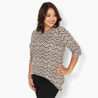 Harga SM Woman Plus Chevron Sharkbite Top (Tan)