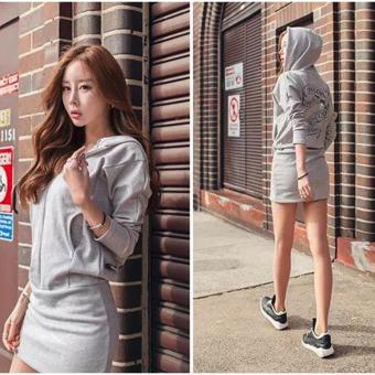 Fashionista Hoody Dress (Grey) Price Philippines