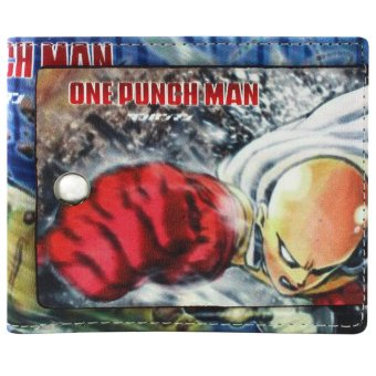 Anime Zone One-Punch Man Fierce Saitama Trendy Printed Leather Wallet Price Philippines