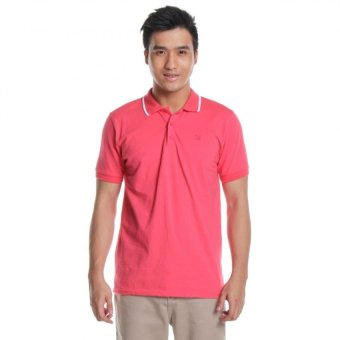Harga Bobson Men's Slim Fit Plain Polo Tees (Pink)