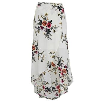 Woen Print Irregular Splits Long Skirt Chiffon axi Beach Skirts Price Philippines