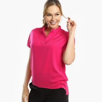 Harga SM Woman Career High-Low Blouse (Fuchsia)