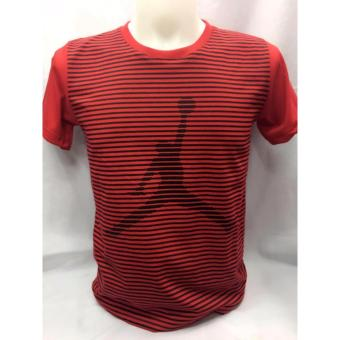 Jordan Logo with pin stripes t-shirt adult Large Price Philippines