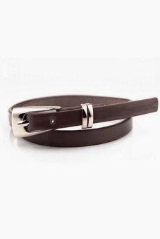 New Hot Fashion Women Multicolor Waistband PU Leather Thin Skinny Buckle Belts Coffee Price Philippines