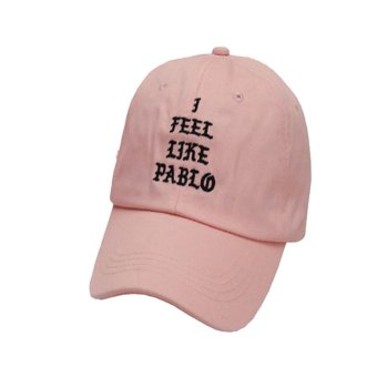 Fancyqube Hot Sale I Feel Like Pablo Hat Adjustable Hip Hop Baseball Cap Yeezy Cap Pink - intl Price Philippines