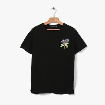 Harga SM Woman Floral Sequin Tee (Black)