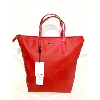 Harga LACOSTE WOMEN'S L.12.12 CONCEPT VERTICAL TOTE BAG RED