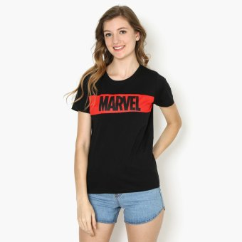 Harga Marvel Mesh Overlay Teens Graphic Tee (Black)