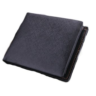 Harga ETOP Synthetic Leather Wallets Money Pocket Credit Card Billfold For Men (Intl)