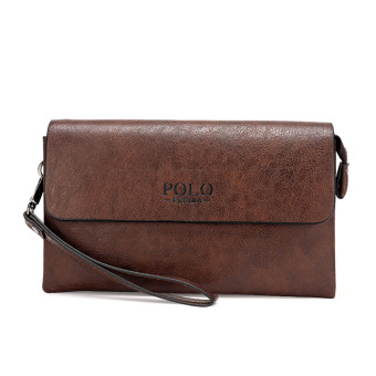Casual Clutch Men Purse Long Male Fashion Leisure Mens Wallet Hand Bag (Coffee) Price Philippines