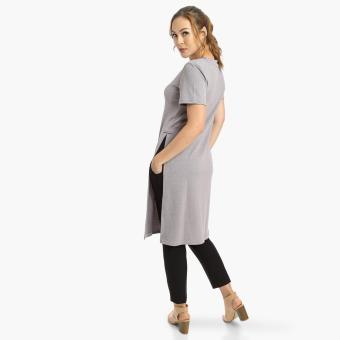 Harga SM Woman High-Vented Tunic (Gray)