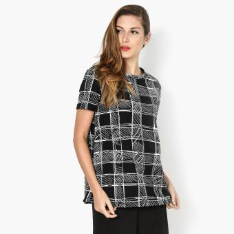 Harga SM Woman Hatching Boxy Top (Black)