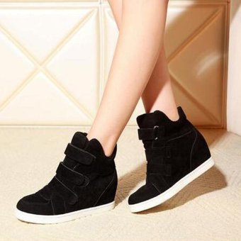 Women Shoes Autumn Winter Hidden Heel Flock Fashion Wedge Casual Shoes - intl Price Philippines