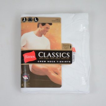 Harga Hanes CLASSICS 3 Pieces Crew Neck T-Shirts (White)